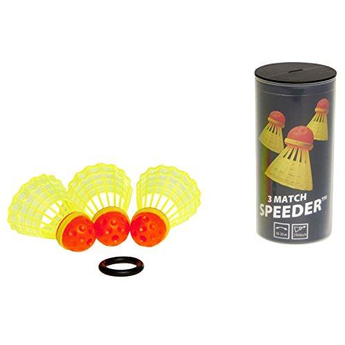 スピードミントン® マッチスピーダー 3個入りパック 公式試合用スピーダー