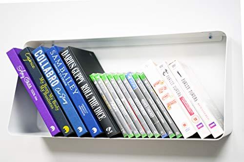 OTZ set van planken Muur Gemonteerd Wit glans metalen planken boek dvd muur opslag unit set van 2