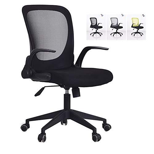 HUINING Bürostuhl, Schreibtischstuhl Ergonomischer Drehstuhl, Höhenverstellbarer Chefsessel Mit Lendenstütze Und Atmungsaktives Mesh,Black,Steel
