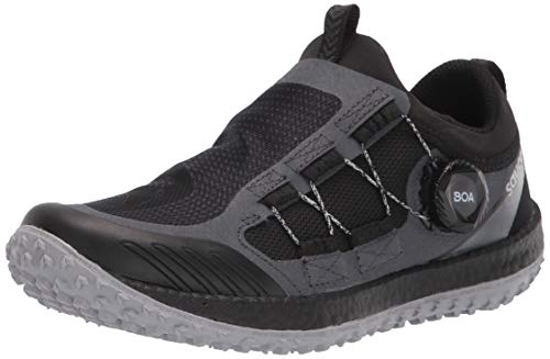 Saucony Women's Switchback 2 Trail Running Shoe, Black/Charcoal, 7
