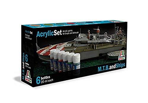 Italeri 434AP - Acrylic Set M.T.B. and Ships include 6 colori