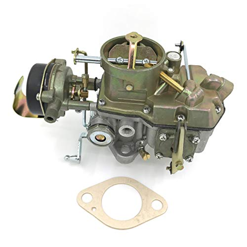HENKYO Autolite 1100 1 Barrel Carburetor Fits 1963 to 1968 Mustang Falcon Comet Straight six Cylinder 170 & 200 CID Engines hot air Choke Works with Automatic and Manual transmissions
