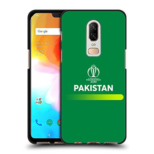 Head Case Designs Officially Licensed by ICC Logotype Pakistan Cricket World Cup Black Soft Gel Case Compatible with OnePlus 6