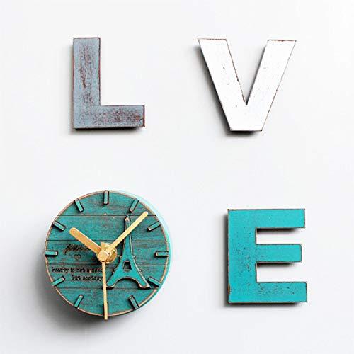 LINYIN Carta de Madera Amor Refrigerador Magnet Combinación Refrigerador Refrigerador Reloj Pastoral Mensaje Magnético Pegatina Tabla de Decoración