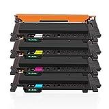Gootior CLT-P404C CLT-404S(con Chip) Cartucho de tóner, 4-Paquete Compatible para Samsung CLT-K404S CLT-C404S CLT-M404S CLT-Y404S Samsung Xpress SL C430 C430W C480 C480W C480FN C480FW Impresora
