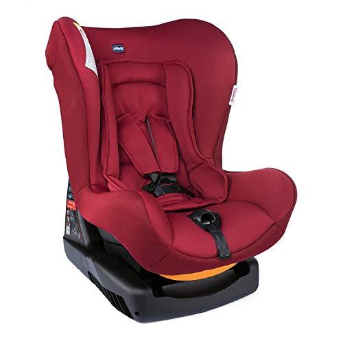 Chicco Cosmos Siège Auto Bébé Inclinable 0-18 kg, Groupe 0+/1 pour Enfants de 0 à 4 Ans, Facile à Installer, avec Coussin Réducteur, Rembourrage Souple - Red Passion