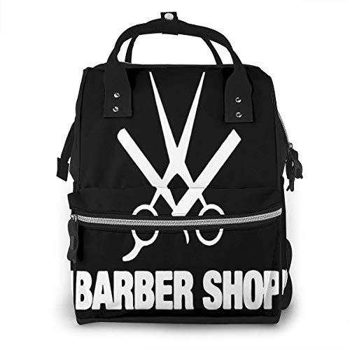 Barber Shop - Mochila multiusos con fondo negro de gran capa