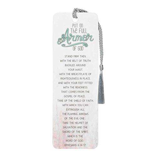 Full Armor of God Soft Watercolors Cardstock Tassel Bookmark Tags, Pack of 12