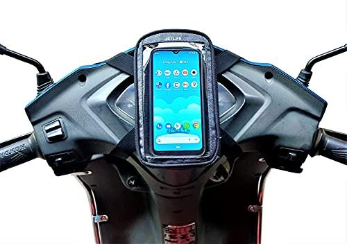 JETLIFE Universal Mobile Holder/Pouch-Bag for All Scooters Scooty's Activa Jupiter etc   Premium Quality & Original Design(Carbon Black)