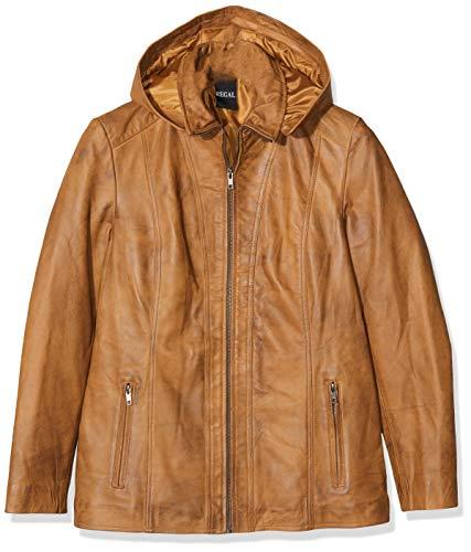Urban Leather Damen Lederjacke mit Kapuze Sk1, Braun (Tan), XL