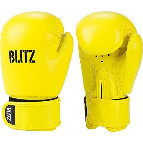 Blitz Kids Omega Guantes de Boxeo, Amarillo Fluorescente, Talla única