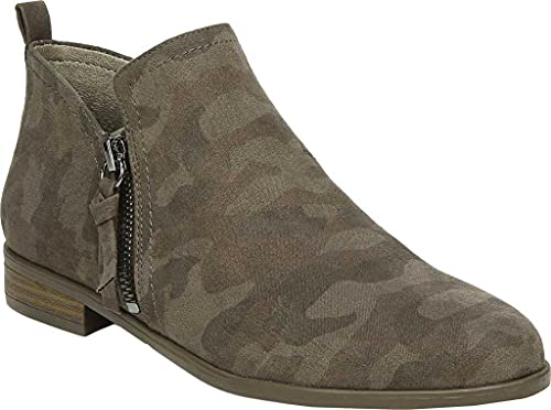 Dr. Scholl's Shoes Women's Rate Zip Ankle Boot, Olive, 11