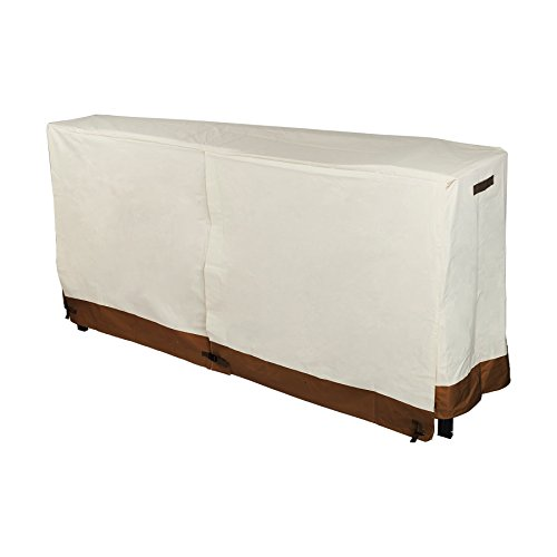 Pinty Firewood Log Rack Cover 8 Feet 600D Oxford Cloth for Outdoor Use Waterproof (White)