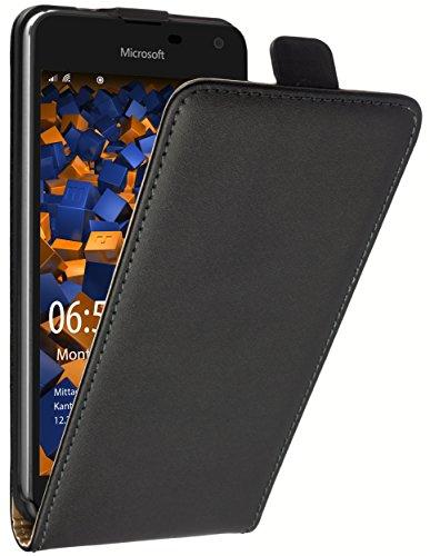 mumbi Tasche Flip Case kompatibel mit Microsoft Lumia 650 Hülle Handytasche Case Wallet, schwarz