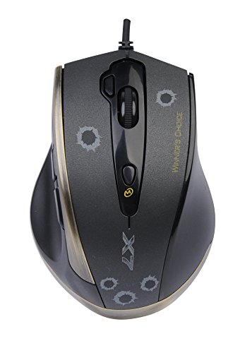 A4tech X7 V-Track F3 Gaming Mouse with Advanced Macro Script - 7 programmable Buttons - Rubberized Side Grip - 3000 CPI Missouri