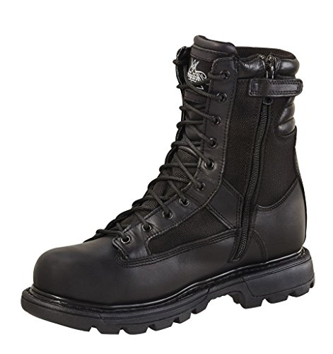 Thorogood Men's Trooper 8'' Side Zip Insulated Black Professional Boots 14 W