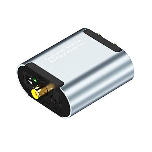 Rehomy Convertidor DAC - Adpater Digital a Analógico Audio Adpater RCA L/R Adpater sin unidad con cable USB