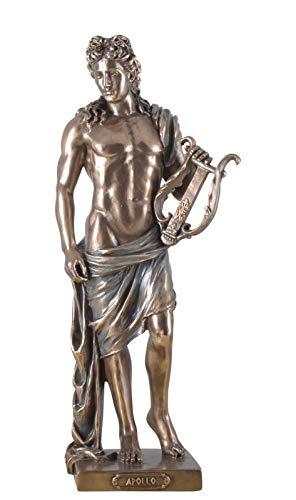 Veronese Figur des Apollo mit Lycra Statue Skulptur griechische Götter bronziert