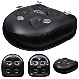 YZWDTGS Spa and Hot Tub Booster Seat Pad with Suction Cup, Back Support Bath Spa Pad Soft Inflatable Massage Cushion, Comfortable Suction Seat for Hot Tub & Spa 18.5x14.57x5.91inches (Black)