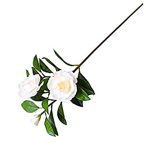 Artificial Blossom Branches Flowers Gardenia Flowers Artificial Silk Bouquets Wedding Home Decoration for Wedding Party Home Garden Blossom Flowers (Color : Yellow, Size : One Size)