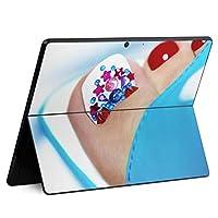 igsticker Surface Pro X 専用スキンシール サーフェス プロ エックス ノートブック ノートパソコン カバー ケース フィルム ステッカー アクセサリー 保護 003514 ユニーク チェック・ボーダー その他 ネイル おしゃれ 写真