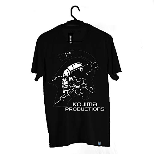 Camiseta Kojima Productions, Death Stranding, Adulto Unissex, Preto, M
