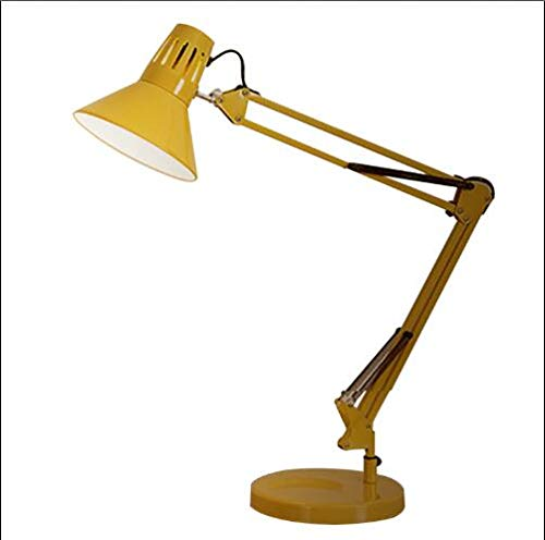 Ligero Moderna de 6 colores estilo swing largo brazo nórdica ajustar lámparas de escritorio E27 llevó lámpara de mesa for Office Light Reading Inicio Lampe sala de estar ( Body Color : Yellow color )