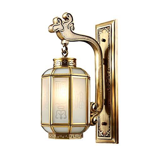 Lámparas de pared Sala de estar interior Todo cobre lámpara de pared de dormitorio de la lámpara pared de la cabecera del Corredor Corredor lámpara de pared Escalera clásica lámpara de cobre puro esti