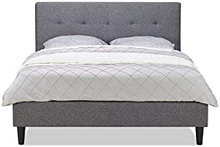 MUSEHOME Upholstered Knighthood Platform Bed/No Boxspring Needed, King