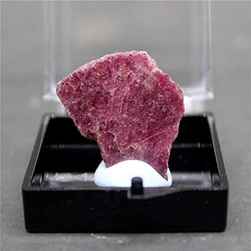 KAPU 100% Natural Ruby Rough Mineral Specimen Stones And Crystals Healing Crystals Quartz Gemstones Box,Style 5