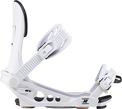 K2 Line Up White - Fijaciones de Snowboard para Hombre, Color Blanco