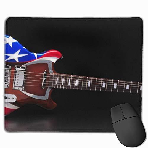 Alfombrilla de ratón Antideslizante para Juegos con Guitarra eléctrica con Bandera Americana,...