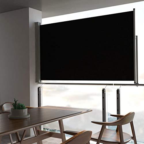 ghuanton Toldo Lateral retráctil para Patio 140x300 cm negroCasa y jardín Jardín...