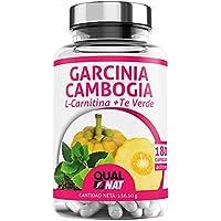 Garcinia Cambogia + L-Carnitina + Té Verde | Potente Quemagrasas | Reductor del apetito |Tú Complemento Natural para Adelgazar| 180 Cápsulas