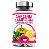 Garcinia Cambogia + L-Carnitina + Té Verde | Potente Quemagrasas | Reductor del apetito |Tú...
