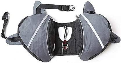 MOCOHANA Waterproof Dog Backpack Hiking Gear Pet Harness Saddle Bag Adjustable Dog Vest Harness Reflective for Dog, Tripper Hound Bag Camping Swiming Traveling, Pet Accessories