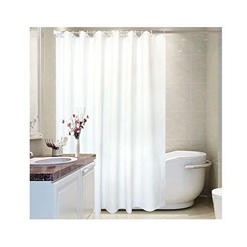 MaxAst Weiß Plain Duschvorhang Anti Schimmel, Peva Badewanne Vorhang 200x200CM, Antibakteriell Wasserdicht mit Ringe