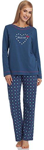 Cornette Damen Schlafanzug 679 2016 (Jeans, S)