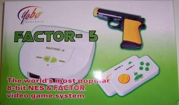 Yobo Factor-5 Video Game System: NES/SNES Replica with 5 Games