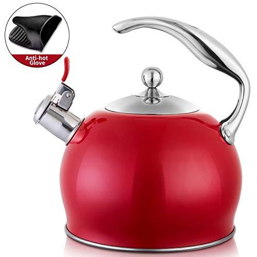 Tea Kettle Best 3 Quart induction Modern Stainless Steel Surgical Whistling Teapot -Tea Pot For...