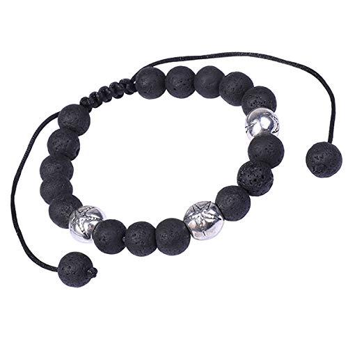 Akki Herren Perlen Armband Beads Leopard Löwe Kopf Schmuck für Männer und Damen 8mm Perlen Armband bänder Tibetan Buddhist Instagram Facebook 100132