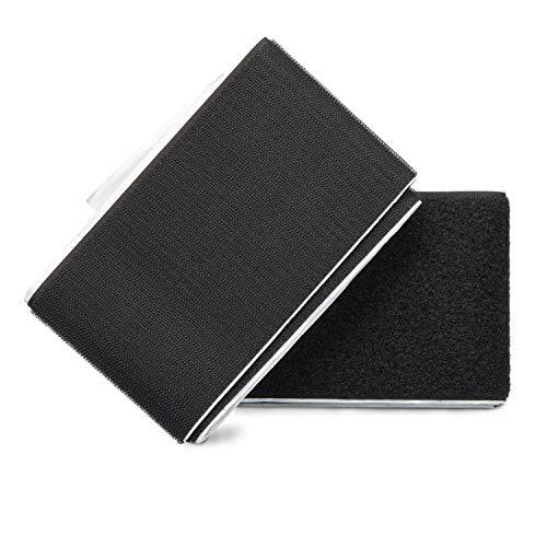 ZADAWERK Klettverschluss - 100 mm x 100 cm - Schwarz - selbstklebendes Klettband - Perfekt zum Verbinden von Materialien - Hochwertiges Klettverschlussband - Deutsche Marke