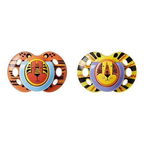 Tommee Tippee fopspeen Fun, symmetrische en kant-klare vorm, set van 2 (0-6 m/6-18 m/18-36 m) 18-36 maanden multicolor