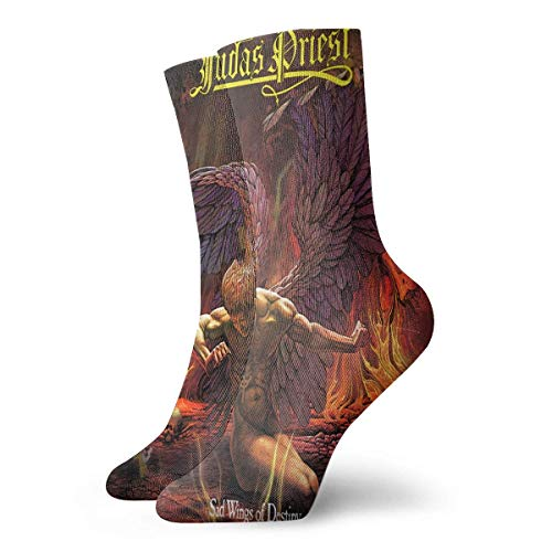 SwDream Calcetines cortos Judas Priest Sad Wings of Destiny que absorben la humedad, ligeros, transpirables, deportivos, calcetines cortos, 30 CM / 11.8 pulgadas