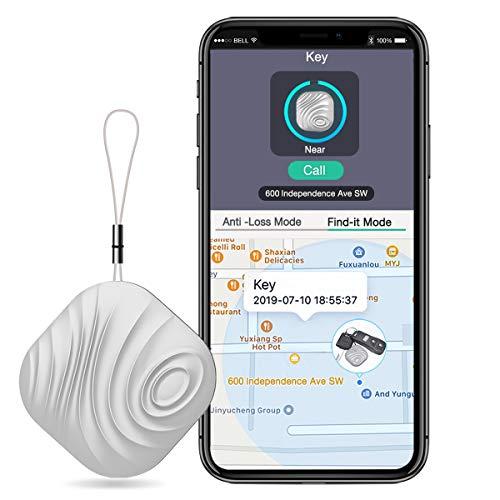 BEBONCOOL Localizador de llaves, compatible con iOS/Android, buscador de llaves con alarma bidireccional, modo silencioso, localizador de llaves multifuncional, Smart One Touch Find GPS.