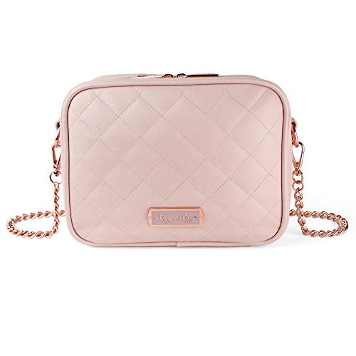 Itzy Ritzy Crossbody Diaper Bag – Chic Double Take Crossbody Diaper Bag Featuring 6 Pockets and 2 Separate Compartments; Includes Coordinating Changing Pad and Adjustable Shoulder Strap, Blush