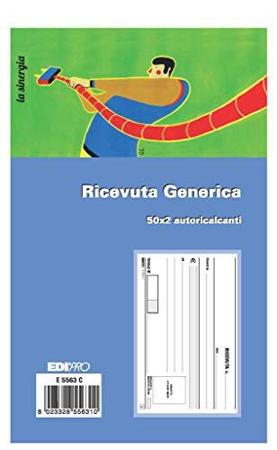EDIPRO - E5563C - Blocco ricevuta generica 50x2 autoricalcante f.to 9,9x17