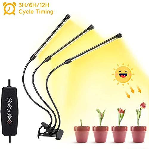 JZH 30W plantenlamp 60 LEDs automatische timer zonlicht plantenlamp lamp volledig spectrum dimbaar zwanenhals Grow Led, 5 soorten helderheid