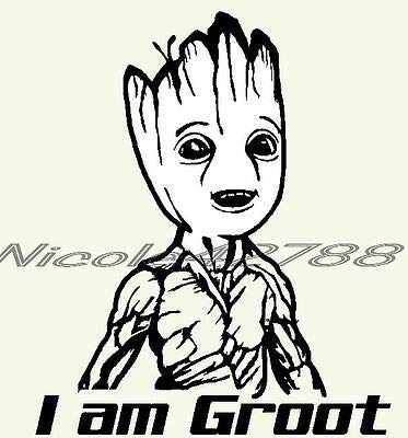 SUPERSTICKI I am Groot Typ7 Guardians of The Galaxy 20cm Aufkleber,Autoaufkleber,Wandtattoo,Sticker Profi-Qualität für Lack,Scheibe,etc.Waschanlagenfest