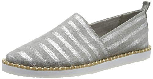 s.Oliver Damen 5-5-24606-32 208 Espadrilles, Grey Stripes, 38 EU